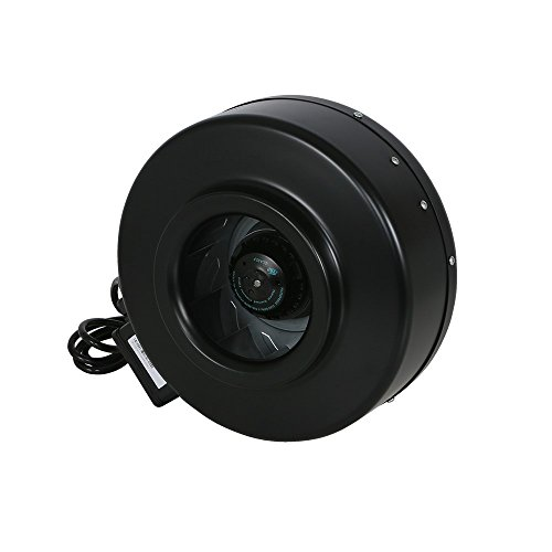 Hurricane inline fan 8 inch 745 cfm high performance - Commercial grade bathroom exhaust fans ...