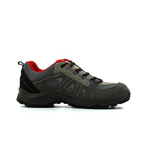 Hi-Tec Stratus Low Wp, Men's Hiking Rouge (Grey/Red)