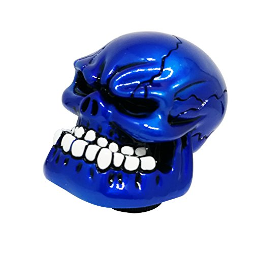 Skull Gear Shift - Mavota Blue Skull Manual Automatic Gear Shift Knobs