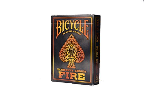 - Bicycle Fire Element Poker Size Standard Index Playing Cards