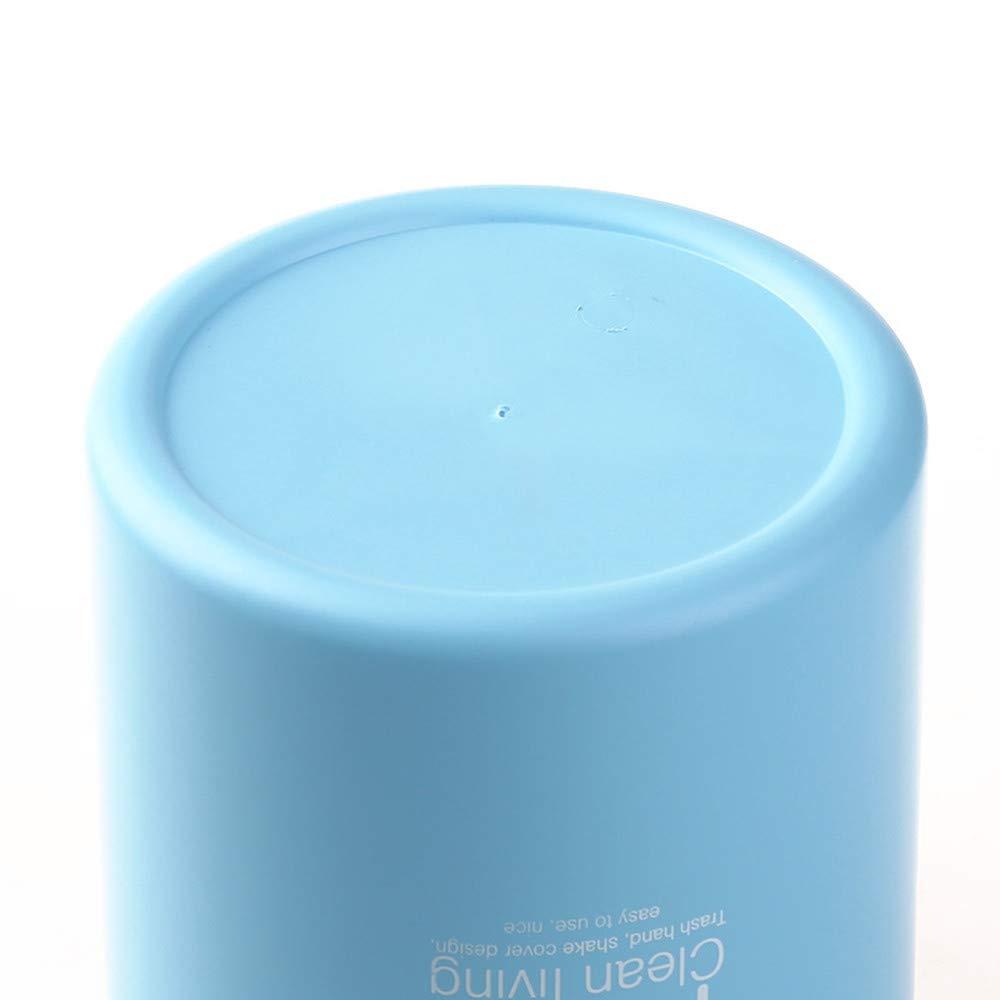 con Coperchio Ribaltabile bidone della Spazzatura in plastica Leggera e Robusta Circolare Soggiorno Bagno WESYY 1 per Cucina Blue Elegante Bagno