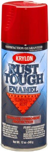 - Krylon K09210007 'Rust Tough' Radiant Red Rust Preventive Enamel - 12 oz. Aerosol