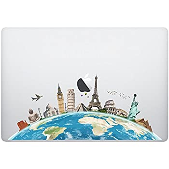 Amazon vati leaves removable world map cool design best vinyl laptop macbook sticker decal world map skins stickers gumiabroncs Images