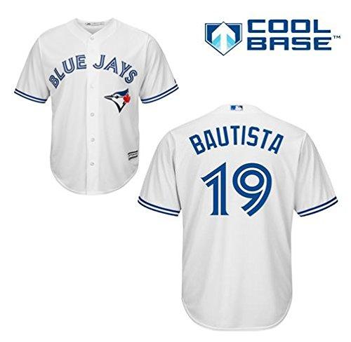 Jose Bautista Toronto Blue Jays #19 MLB Men's Cool Base Home Jersey (XXLarge)