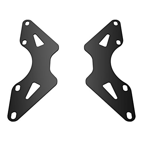 Universal VESA Adapter Extension Plate Bracket - VESA Mount from 100x100mm to 200x100mm, 200x200mm, VESA Extender for Computer Monitor Stands by HUANUO