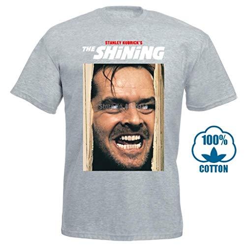2017 The Shining Jack Nicholson Classic Horror Movie 3D Print Men's Short Sleeve Tees Summer Gray
