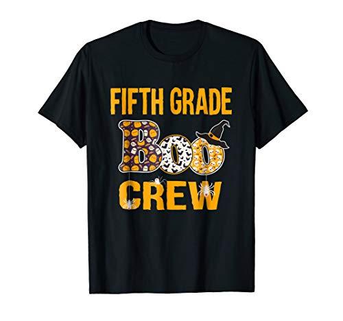 5th Grade Teacher Halloween Costume (Fifth Grade Boo Crew Teacher Shirt Halloween)