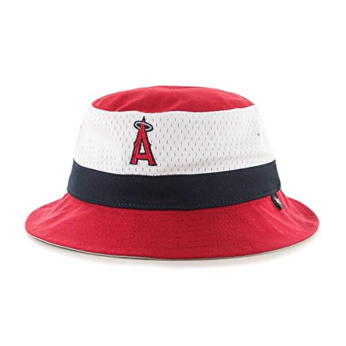 '47 Brand Anaheim Angels Red Double Line Drop Bucket Hat - MLB Los Angeles Gilligan Fishing Cap