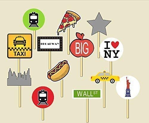 13 NYC Subway Party Cupcake Toppers