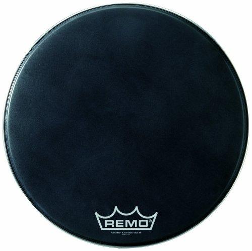 Remo Powermax Black Suede Crimplock Bass Drumhead, 20