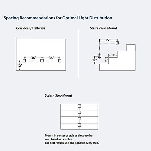 WAC Lighting WL-LED200TR-C-WT 120V Trimless Vertical Step Light, 3000K