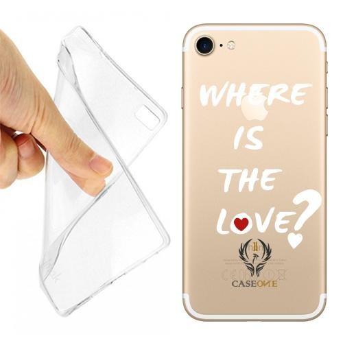 Caseone linea top CUSTODIA COVER CASE CASEONE FRASE LOVE PER IPHONE 7 TRASPARENTE