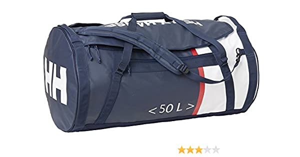 ogromna zniżka klasyczny gorące nowe produkty Helly Hansen Unisex HH Duffel Bag 2 Water Resistant Packable Bag with  Optional Backpack Straps, 692 Evening Blue, 50-Liter (Medium)
