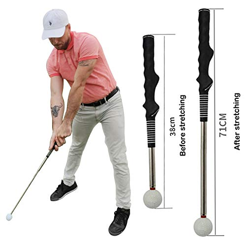 Pradagy Golf Training Aids- Indoor Golf Swing Trainer Aid Speed Stick Whip/for Strength and Tempo Practice