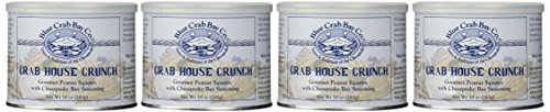 Blue Crab Bay Co. Crab House Crunch, 10-Ounce Packages (Pack of 4) -