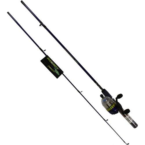 Roddy Hunter (Master Fishing Tackle Roddy Hunter LED Lites 5 1/2' 2pc Spincast Combo, Blue)