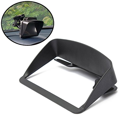 Funnytoday365 Universal Black Sun Shade Visor Screen For Gps Sat Nav With 4.3 & 5 Screen