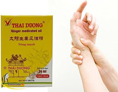 02 Boxes *24ml - DẦU GỪNG THÁI DƯƠNG - OIL GINGER THAI DUONG