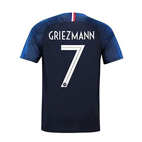 祖父母を訪問公園犯罪サッカー2018  フランス代表 ユニフォーム 上下セット Griezmann 背番号7 Griezmann 子供用 (子供M,Griezmann) (M)