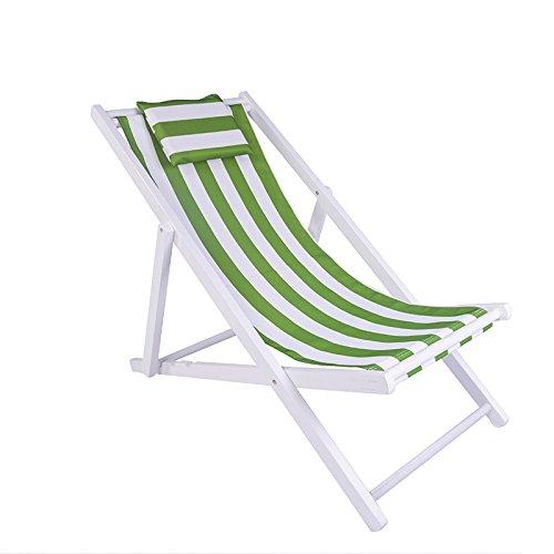 ZLJTYN Folding Sun Lounger Beach Chair, Folding Chair, Solid Wood Recliner, Canvas Chair, Lunch Break Chair, Chair, Outdoor Portable Chair, Accompanying Chair Lazy Chair, D, 2 PACK