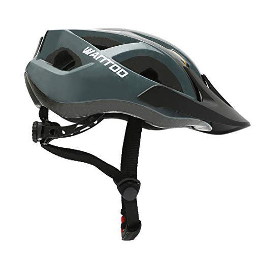 Wantdo Cycling Helmet Lightweight Comfortable BMX Mountain Road Bike Helmet Specialized MTB Bicycle Helmet with Detachable Liner and Adjustable Strap for Adult Men and Women Safety Protection Black