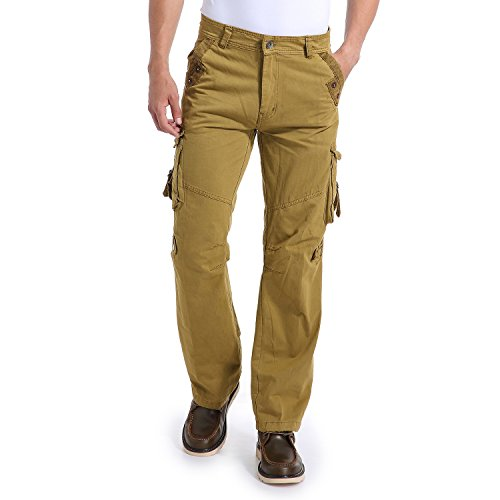 Eaglide Mens Regular-Fit Outdoor Tactical Pant,Mens Multi-Function Pockets Cotton Casual Cargo Pants
