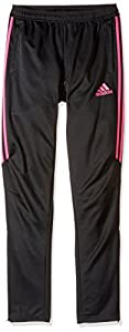 adidas Youth Soccer Tiro 17 Pants, Small - Black/Shock Pink