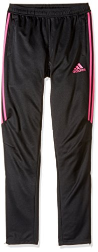 adidas Youth Soccer Tiro 17 Pants, Large - Black/Shock Pink
