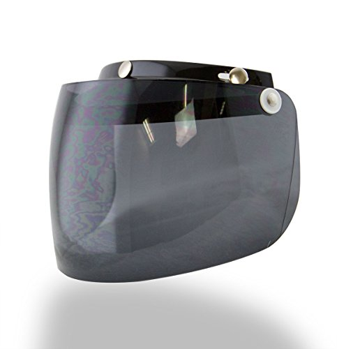 Outlaw Universal 3 Snap-Button Visor with Flip-up Dark Tint Shield - One Size by Outlaw