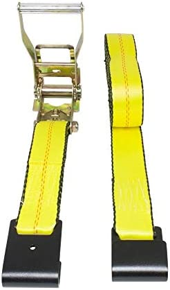 10 Pack Mytee Products Ratchet Tie-Down Straps with Flat Hooks 2 x 30 Ratchet Straps Yellow Truck Trailers Pickup TieDown Ratchet Straps for Flatbed 10,000 Lbs Breaking Strength