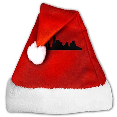 FQWEDY Portland Oregon Unisex-Adult's Santa Hat, Velvet Christmas Festival Hat ()