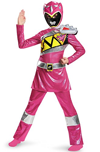 Disguise Pink Ranger Dino Charge Deluxe Costume, Small (4-6x) (Pink Power Ranger Costume For Kids)