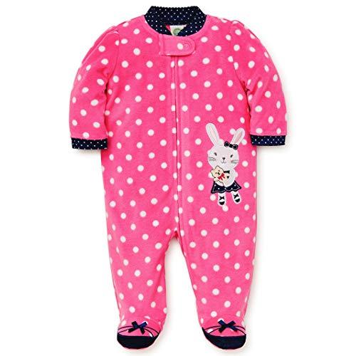 s Footie Sleepwear, bunny azalea pink/medieval blue, 3 Months ()