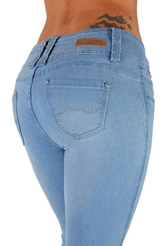 - Colombian Design, Butt Lift, Levanta Cola, Skinny Jeans in Light Blue Size 7