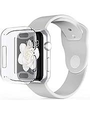 Babacom Funda para Apple Watch 44mm Series 4, Protector Pantalla para iWatch 4 [Protección Completo] [Anti-Rasguños] [Ultra Transparente] Funda Suave TPU para Watch Series 4