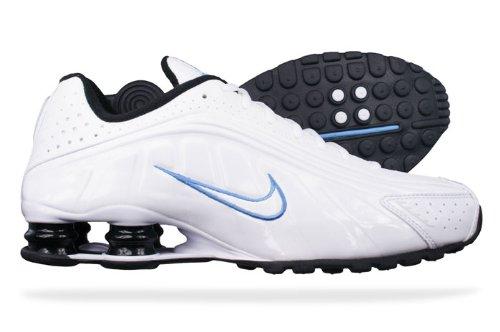 b228da2b16e36c Nike Shox R4 EU white-blue 40  Amazon.it  Scarpe e borse