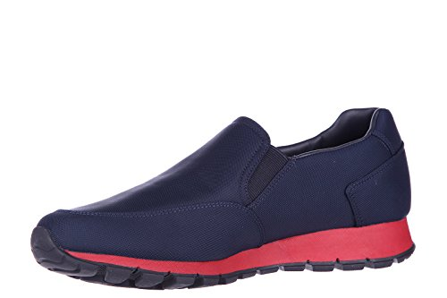 Prada slip on uomo nuove sneakers originali tech blu