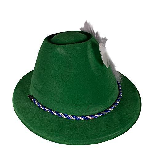 Oktoberfest Green Velour Alpine Costume Hat for Men & Women -