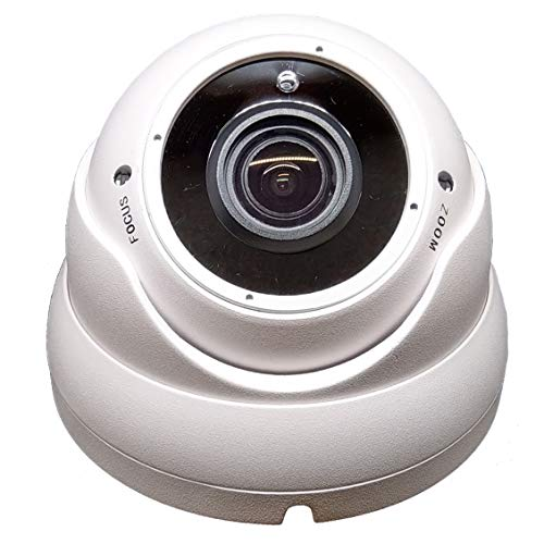 1stPV 1080P True-HD 4in1 (TVI, AHD, CVI, CVBS) CCTV Security D/N Out/Indoor Color IR Dome Camera 2.8-12mm Varifocal Lens SONY 2.4 Megapixel STARVIS WDR Weather/Vandalproof Metal Housing 12VDC (White)