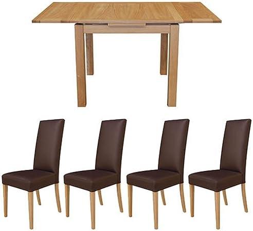 Provence Mesa de Comedor Extensible de Roble Macizo y 4 Marlow revistero Juego de sillas de Comedor: Amazon.es: Hogar
