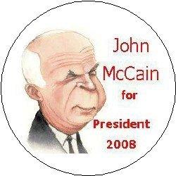 JOHN McCAIN for PRESIDENT 2008 Pinback Button 1.25