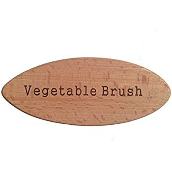 Vegetable Brush - Made from All Natural Bamboo and Palm Fibers - Scrub and clean carrots, potatoes, corn, beets, asparagus etc.