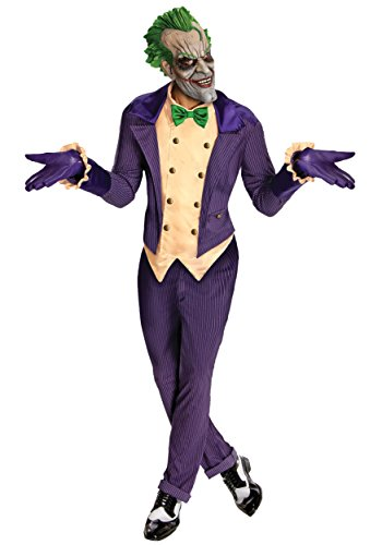 Rubie's Men's Batman Arkham City Joker Costume, Purple, One Size