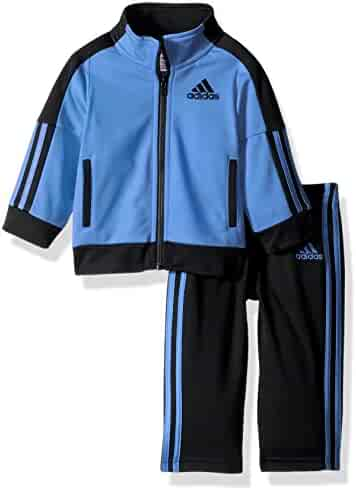 Adidas Baby Boys' Iconic Tricot Jacket and Pant Set