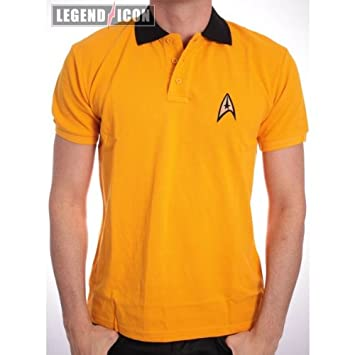 STAR TREK - Polo - Uniform - Yellow (S) : TShirt, ML: Amazon.es ...