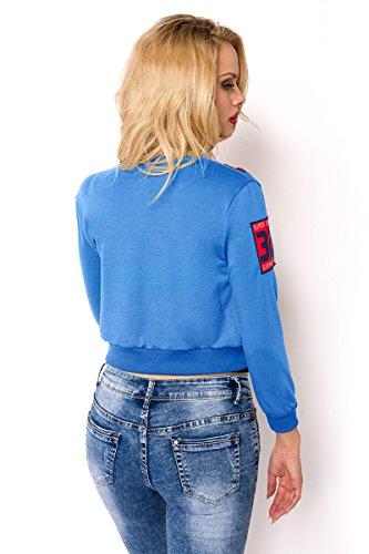 Angies Glamour Fashion - Chaqueta - para mujer Azul