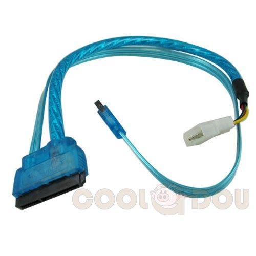 CG 18 inch SATA 3.0 and SATA POWER 15 pin combo cable,UV Blu