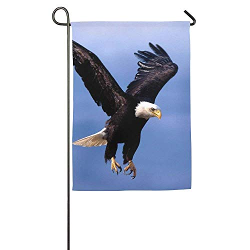 HUVATT Ambitious Eagle Garden Flag Indoor & Outdoor Decorative Flags for Parade Sports Game Family Party Wall Banner 12 x 18 inch -