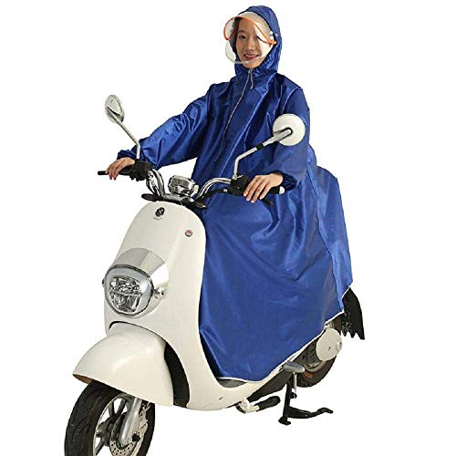 Fermeture Casual Éclair Dame Poncho Capuche Bleu Extérieur Moto Battercake Avec Imperméable Rainponcho À Adulte 1BzUWXBqg