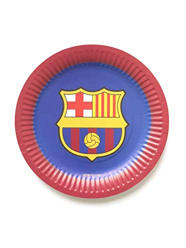 FC Barcelona Birthday Party Decoration 9 inch Paper Plate Bag of 10